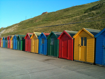 Whitby Beach Hut Photo