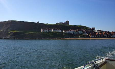 Whitby, Yorkshire from the Sea