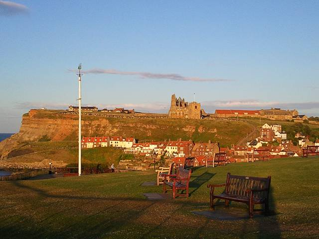 Whitby UK in the Evening Sun photograph