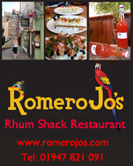 RomeroJo's Rhum Shack Restaurant, Whitby UK