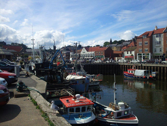 Whitby Harbour and Taxi Rank Photo
