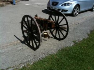 Photo of small cannon at Robin Hood's Bay