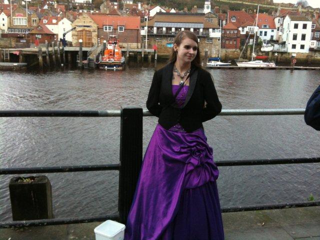 Gothic girl by the side of Whitby Harbour