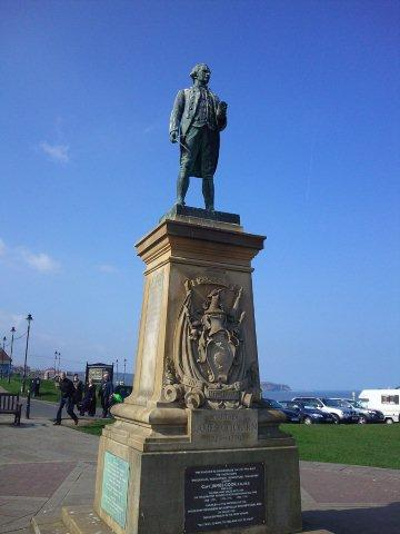 Photo of Captain Cook's Statue in Whitby