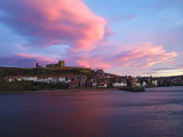 Photo of Whitby Harbour at late afternoon