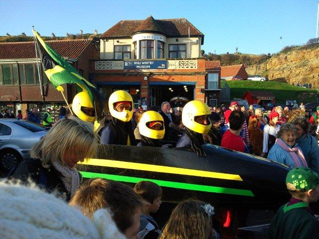 Photo of team entry in Boxing Day dip fancy dress