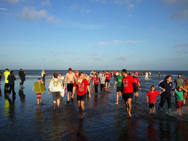 Photo of Boxing Day 'Dippers' in the sea