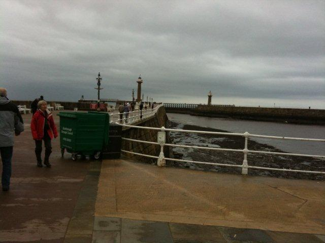 Photo of the Whitby West Pier on Easter Sunday
