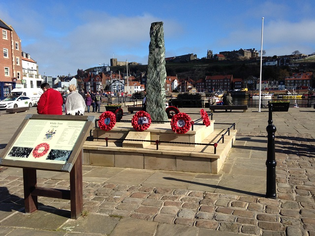 A photo of the War Memorial at Whitby