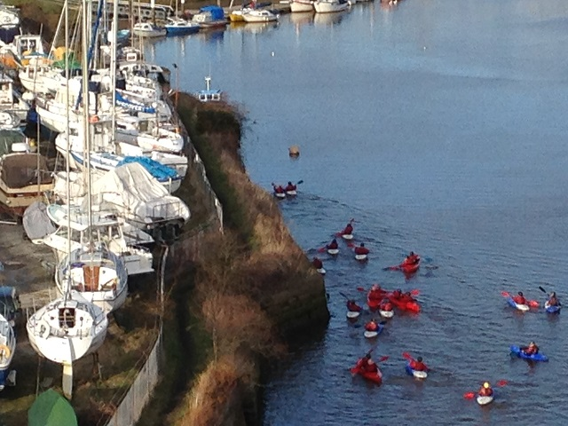 Photo of Canoeists on the River Esk