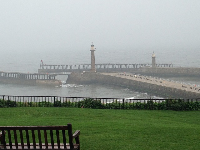 photo of the piers in the mist