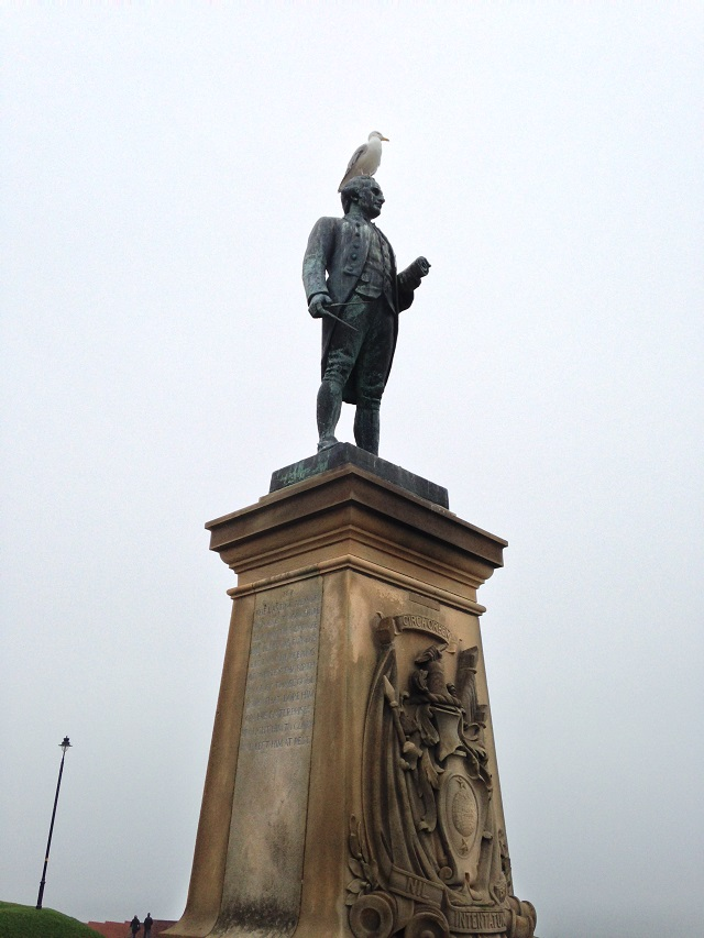 photo of Captain Cook's statue
