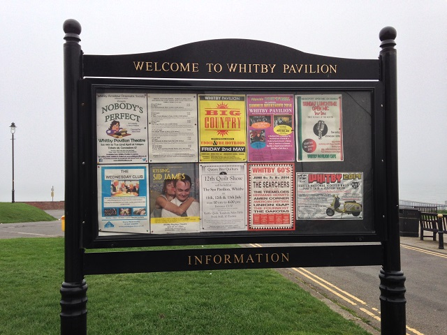 photo of noticeboard for the spa pavlin