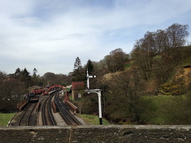 Photo of view from railway bridge in Goathland