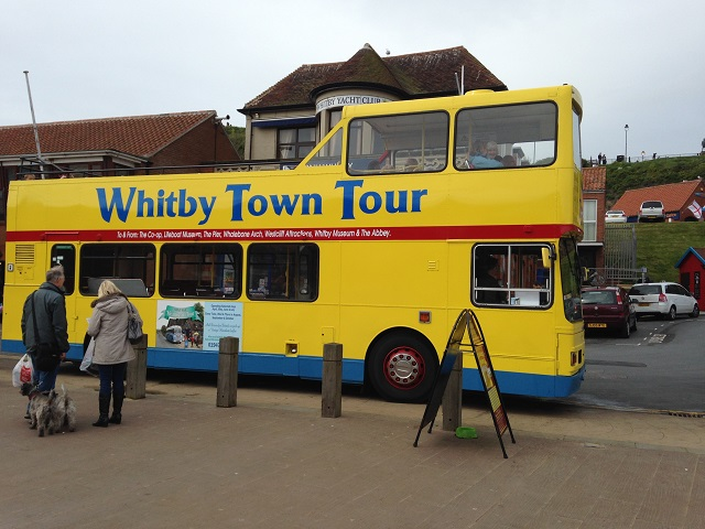 photo of the open topped bus