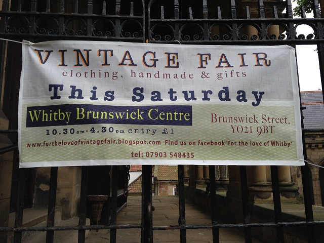 photo of sign for vintage fair