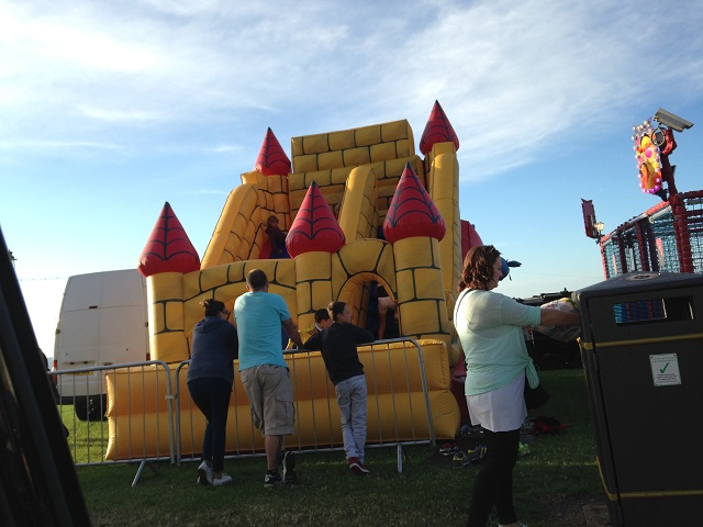 photo of a bouncy castle