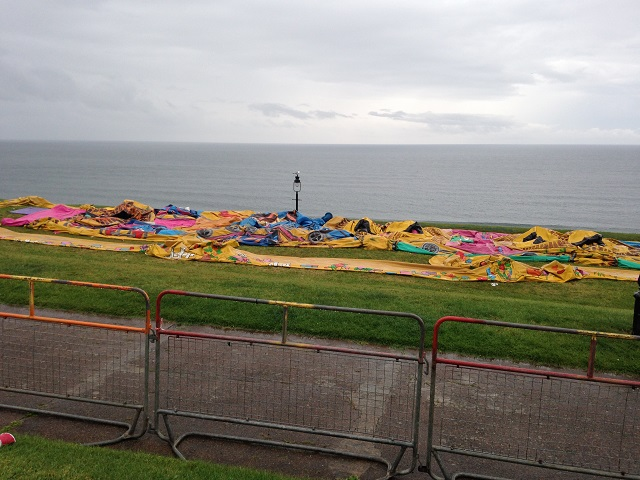 photo of flat bouncy castle